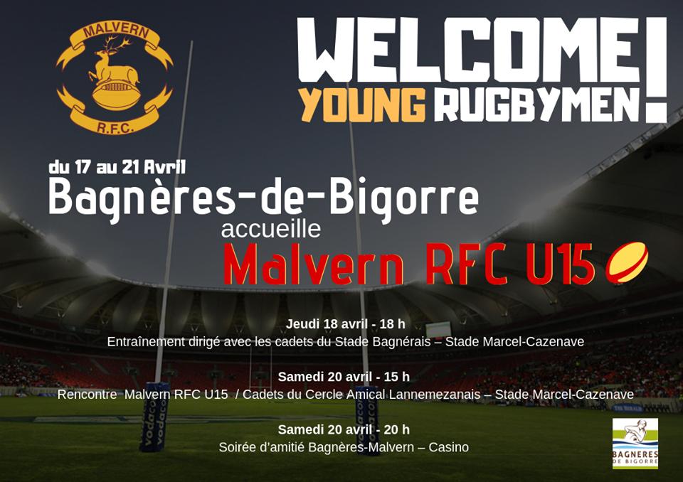 Une rencontre internationale de rugby ce samedi 20 avril à Bagnères-de-Bigorre